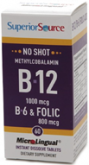 Superior Source NO Shot B12 Buwth Folic Acid