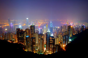 Victoria harbor, from Victoria Peak - Hong Kong SAR