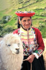 Inca Farmer with llama