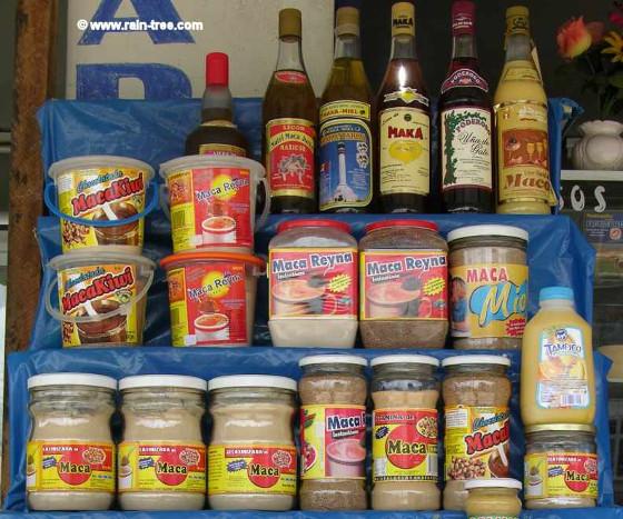 Maca products in Peru 560