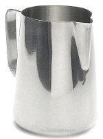 Stainless Frothing Pitcher pours with no drips